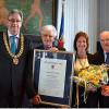 Ehrenbürgerschaft für Amnon Orbach als Mann des Friedens