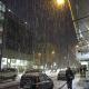 Seit Stunden Schneefall in Marburg