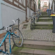 Treppen steigen und Treppen beparken