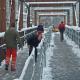 Hirsefeldsteg –  Endmontagen bei Eis und Schnee
