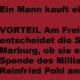 In Marburg auch Parteienspende vor Ort von Seiten der DVAG