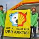 Protest an Shell-Tankstellen – Umweltaktivisten von Greenpeace wollen Ölbohrungen in der Arktis verhindern