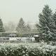 Erster Schnee in Marburg Ende Oktober