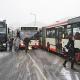 Schneefall unterbricht Busverbindung auf die Lahnberge