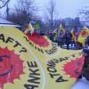 Eine Hundertschaft in Marburg unterwegs – Klare Zeichen und Worte zum Fukushima-Tag