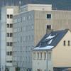 Moderne Architektur vor dem Abbruch in Marburg