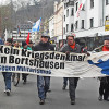 Osterspaziergang gegen Kriegsdenkmal in Bortshausen – Nicht länger rückwärtsgewandter Kriegsheldenkult in Marburg