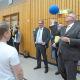 Goal-Ball in der Marburger BliStA – Sportlicher Finanzminister und Oberbürgermeister beobachtet beim Besuch