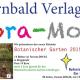 Stand beim Pflanzenmarkt: Kalender und Buch zum Botanischen Garten werden präsentiert