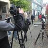 Zur Zivilcourage ermutigen – Filmteam dreht in der Marburger Altstadt