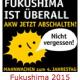Mahnwache zum Jahrestag der Atom-Katastrophe Fukushima am 11. März