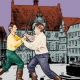 Cyrano de Bergerac in Marburg – Liebe und Leiden in Mantel und Degen vor dem Rathaus