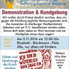 Demonstration gegen Erhöhung der Betreuungskosten in Marburg  am 5. November