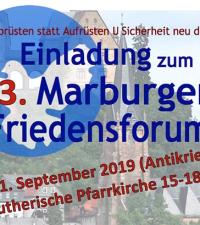 Einladung zum Marburger Friedensforum: Abrüsten statt Aufrüsten – Sicherheit neu denken