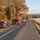 Kalt erwischt in Burgwald-Ernsthausen – Erste Frostnacht im Burgwald lässt PKW kurz vor dem Ortschild Graben und Bankette durchpflügen