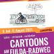 Die wahrscheinlich längste Cartoon-Ausstellung der Welt auf dem Fulda-Radweg R1