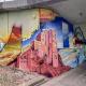 Graffiti-Aktion an der Südspange: Unterwasserwelt auf Betonwand