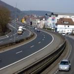 Blick über Stadtautopbahn