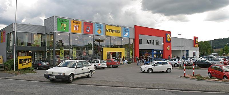 Fassade Einkaufsmärkte