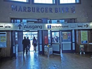 Ankunft Marburg Hauptbahnhof Januar 2010