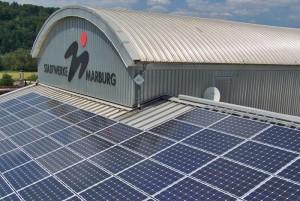 Photovoltaik-Dach der Stadtwerke Marburg