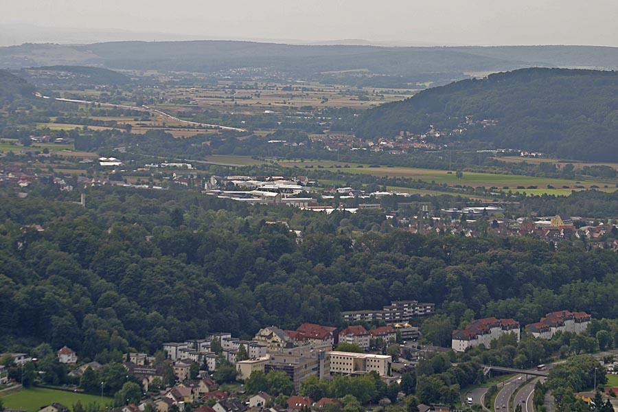 Luftbild auf den Süden Marburg