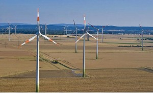Windstrom-Park in Niedersachsen