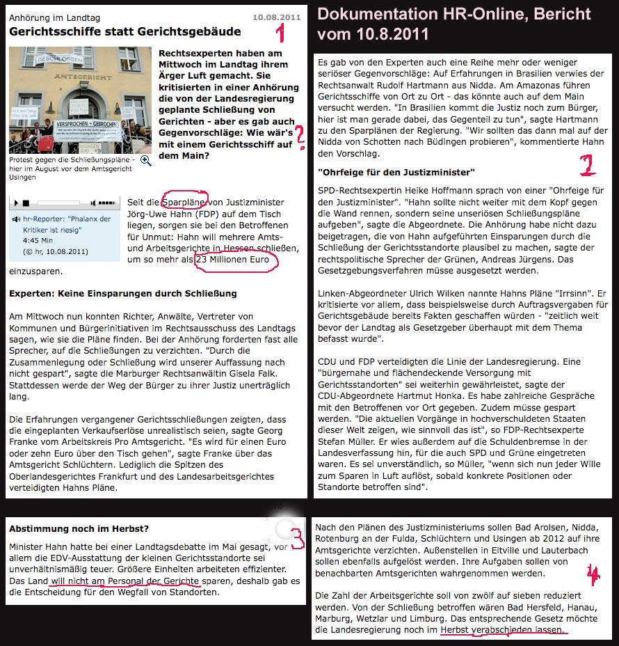 das Marburger Online-Magazin » Dokumentation Bericht HR-Online Y0810