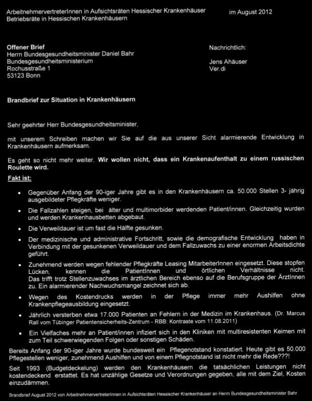 Das Marburger Online Magazin Offener Brief An Den