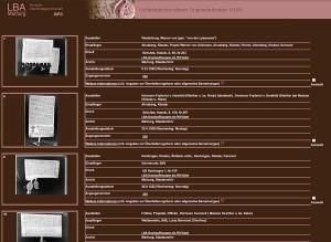Maske des Lichtbildarchivs mit Ergebnissen einer Suchfrage nach Hessischen Archiven