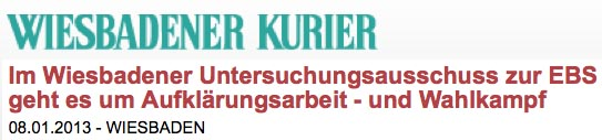Pressemeldung EBS Wiesbadener Kurier