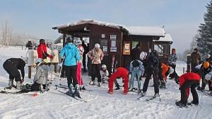 Skitag in Winterberg des Beruflichen Gynmnasiums 'Kaufmännische Schulen Marburg'. Foto ... ->für Großdarstellung anklicken