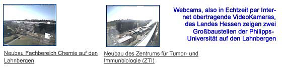 Webcams Lahnberge 130304