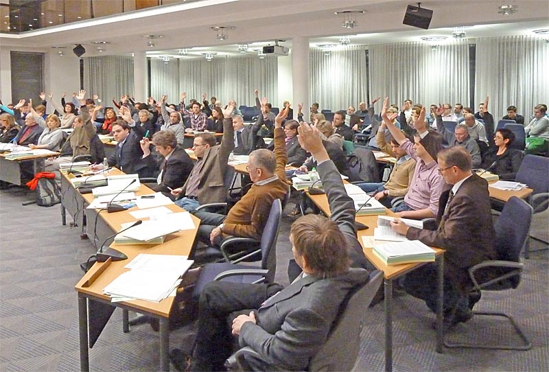 Abstimmung StVV Marburg 22.03.2013