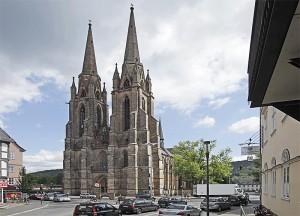 Blick zur Elisabeth-Kirche
