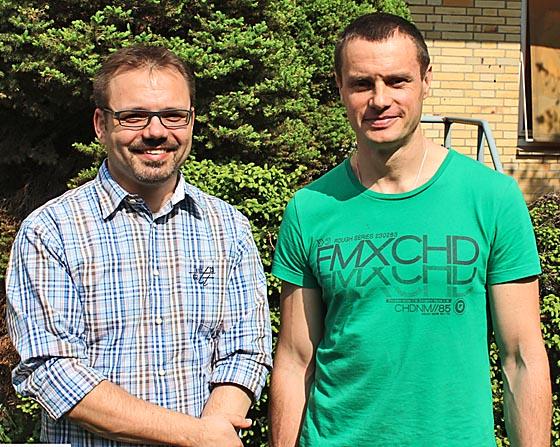 Prof. Thorsten Stiewe und Dr. Oleg Timofeev und Kollegen berichten in 'Cell Reports' über die Funktion des krebsunterdrückenden Gens p53. Foto nh