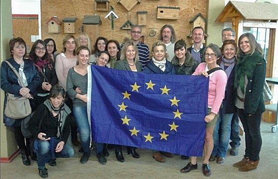 Spanische Vertreter von Bildungsträgern und öffentlicher Verwaltung zu Besuch in der Marburger Produktionsschule Foto Arbeit und Bildung e.V.