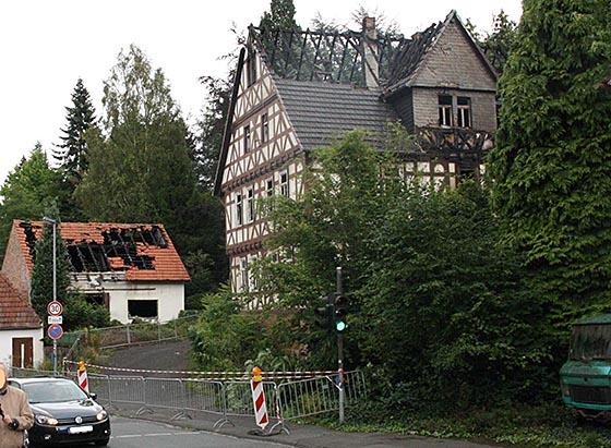 Haus Brunnenstraße mit Schuppengebäude. Foto Andreas Matsch.