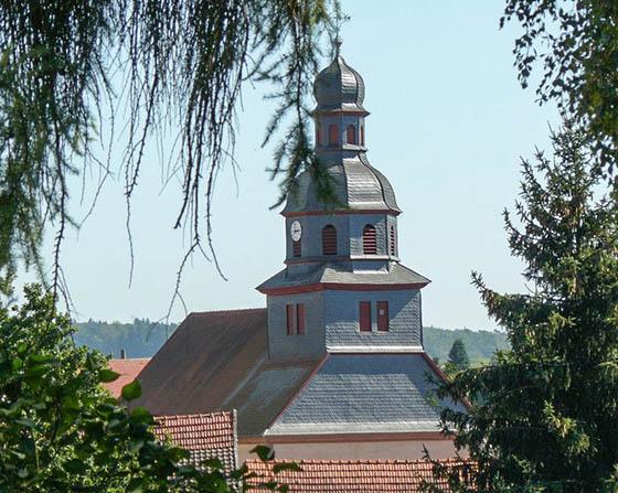 Die Kirche von Obergleen heute, für nur kurze Zeit Dienstort für Ludwig Weidig. Foto Justus Randt