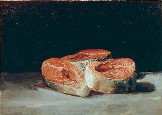 Stilleben mit Lachsschnitten, Francisco Jose de Goya y Lucientes