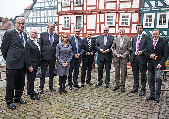 Treffen der Oberbürgermeister der hessischen Sonderstatusstädte in Marburg. Fotografie Hartwig Bambey (c) 2014