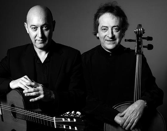 Cesar Anegeleri (Gitarre) German Prentki (Cello)