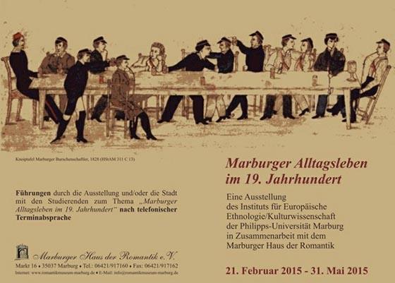Einladung Marburger Alltagsleben im 19.Jahrhundert