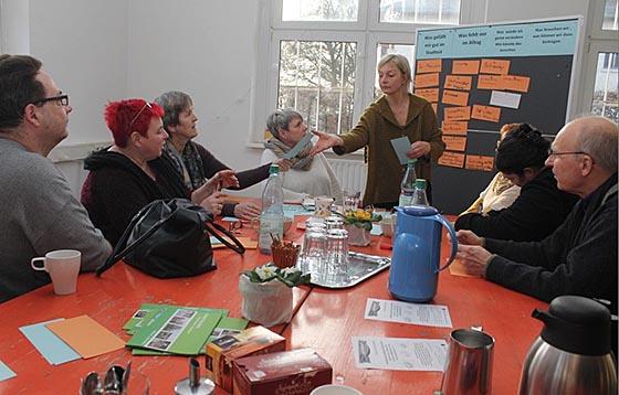 In Kleingruppen wurdenviele Ideen, Wünsche und Anregungen gesammelt. Foto Heiko Krause