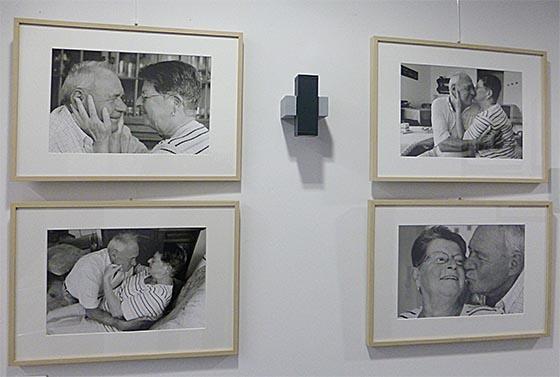 Einfühlsame Fotografien hat Winfried Eberhardt für die Ausstellung 'Alter und Liebe' geschaffen. Sternbald-Foto Hartwig Bambey