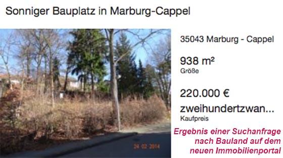 Immbilienportal Marburg