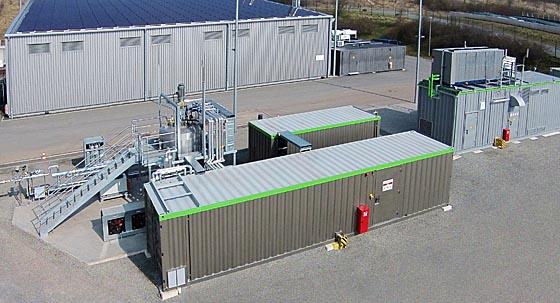 In der Anlage von Viessmann in Allendorf/Eder wird mittels biologischem Verfahren aus regenerativem Strom Methan erzeugt und ins öffentliche Erdgasnetz eingespeist. Foto Viessmann