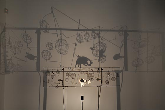 Kinetik-Installtion Hans Schohl Animal Shadows im Ausschnitt.