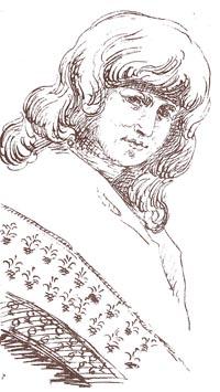 Christiane von Goethe. Zeichnung von Johann wolfgang Goethe. Quelle Wikipedia