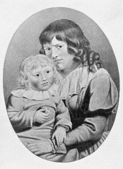 Christiane und August von Goethe, Aquarell von Johann Heinrich Meyer. Quelle Wikipedia